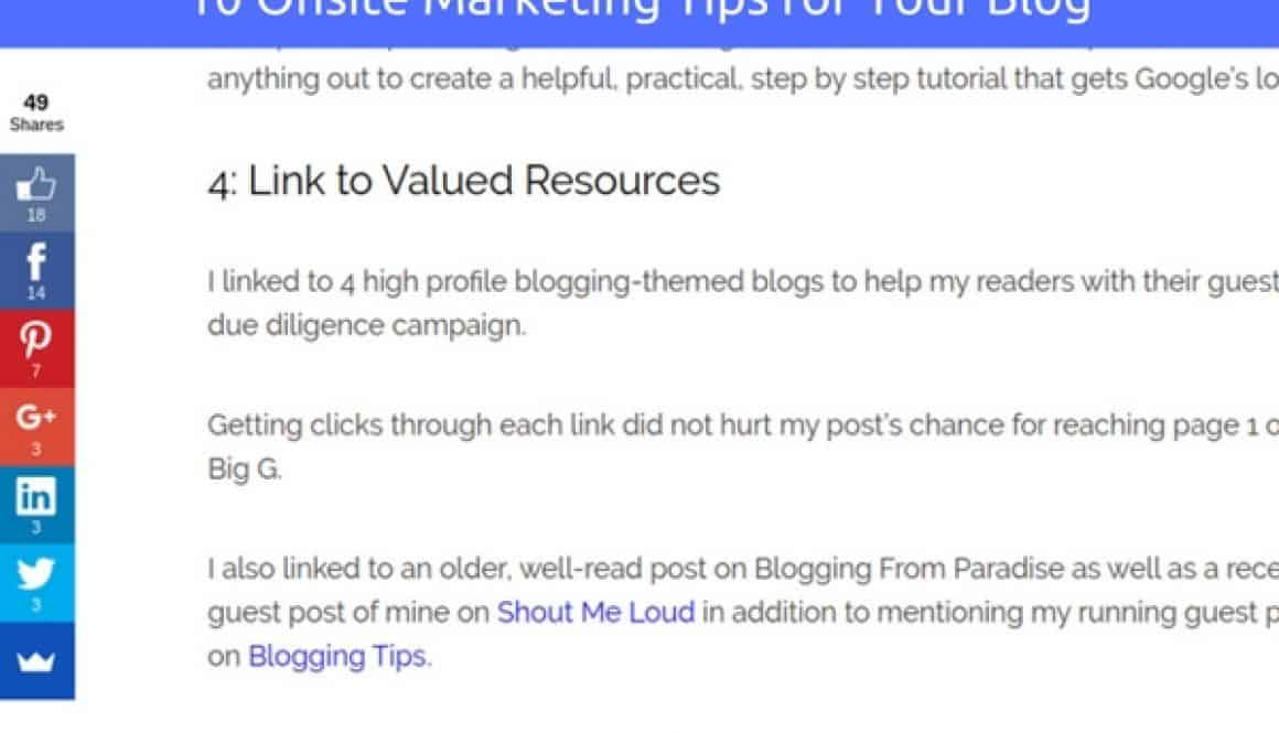 10 Smart Onsite Marketing Tips for Your Blog